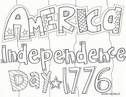 independence coloring pages doodle art alley