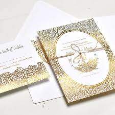 wedding invitations gold foil gold foil wedding invitations brides