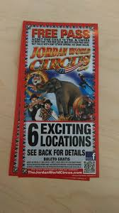 What Is The Cost Of Six Flags Tickets Free Child Pass To The Jordan World Circus With Paid Ticket