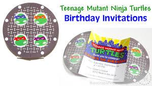 teenage mutant ninja turtles tmnt birthday invitations the