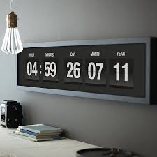 Minimalist Alarm Clock by Modern Digital Wall Clock Modern Wall Clock Home Design By Fuller