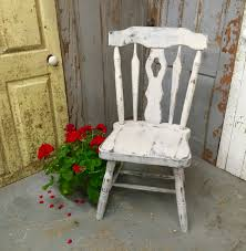 gray accent chair vintage wood chair country chic distressed