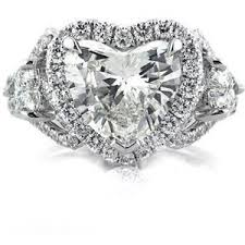 heart shaped diamond engagement ring heart shaped engagement rings polyvore