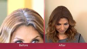 instantly cover gray roots with bye bye gray root touch up spray