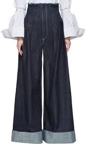 jacquemus shirt dress jacquemus navy u0027le pantalon de nimes u0027 jeans