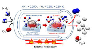 catalyst for the carbon free production of hydrogen gas from ammonia