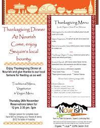 join us for thanksgiving dinner nourish