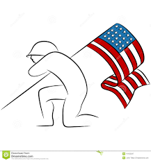How To Draw A Flag Soldiers Putting Flag Up Drawing Clipart Clipground
