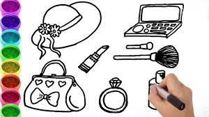 make coloring book how to draw make up drawing handbag coloring book art for kids