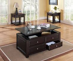 coffee table and end table sets 2 ines coffee table and two end tables espresso leon u0027s