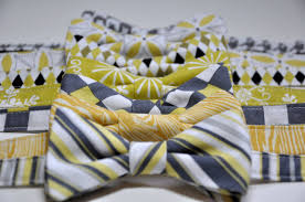 boys bow ties citron yellow and grey toddler bowties