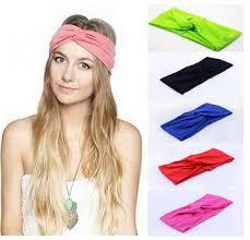 knot headband twist knot headband stretch lycra brand turban hair band cross