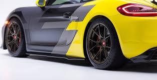 yellow porsche side view porsche 981 cayman gt4 body kits u0026 carbon fiber aero kits vorsteiner
