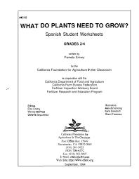 what do plants need to grow 2nd 4th grade lesson plan lesson