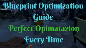 runescape optimising blueprints guide get a perfect every time