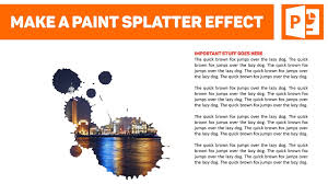 how to easily create a fancy paint splatter effect for your