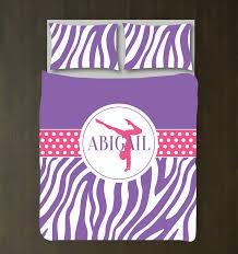 Girls Zebra Bedding by Zebra Print Gymnastics Bedding Girls Duvet Cover U2013 Shop Wunderkinds