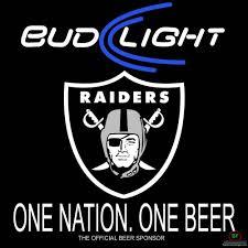 bud light for sale bud light oakland raiders neon sign nfl teams neon light for sale