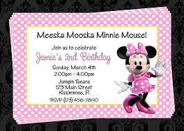 personalized minnie mouse invitations custom minnie inspired birthday party invitations diy
