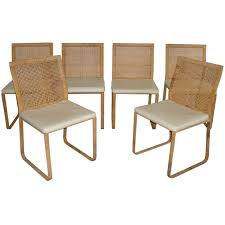 awesome woven dining chairs rare harvey probber woven rattan