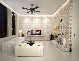 small apartment interior design idea for living room with white