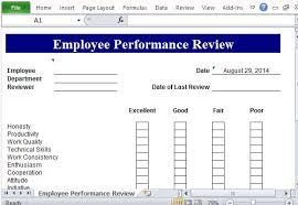 Microsoft Excel Form Templates Performance Review Template For Microsoft Excel