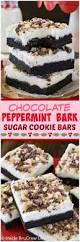 chocolate peppermint bark sugar cookie bars inside brucrew life