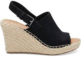 black suede s wedges toms