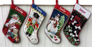 embroidered christmas accessories white christmas embroidered