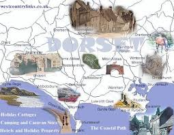 map uk villages the dorset map of towns and villages and dorset attractions