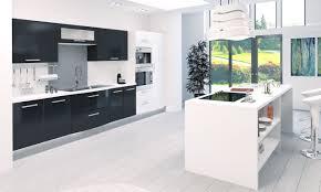 cuisine blanc et emejing cuisine blanc et noir pictures design trends 2017