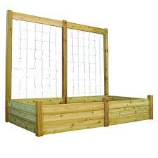 gronomics raised garden bed with trellis home outdoor decoration