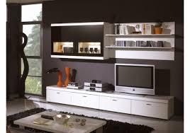 Wohnzimmerschrank Folieren Wohnwand In Weiß Schwarzglas Bht Ca 280 192 26 50 Cm Woody