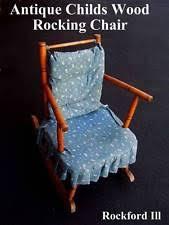 Antique Nursing Sewing Rocker Small Star Pattern Seat Antique Wooden Rocking Chair Ebay