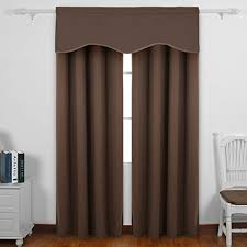 solid color rod pocket blackout curtains short curtains scalloped