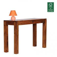 Schreibtisch 1 Meter Finebuy Konsolentisch Massivholz Sheesham Konsole Mit 1 Schublade