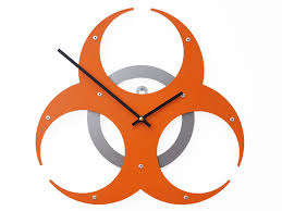 biohazard i medium unique wall clock modern wall clock