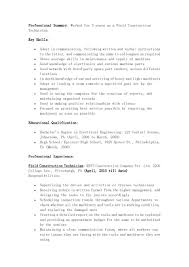 Sample Technician Resume by Perfect Field Construction Technician Resume Example With 3 Years