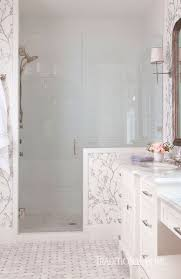 serene bathroom dressed in silver traditional home