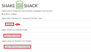Job Application With Resume how to apply for shake shack jobs online at shakeshack com careers