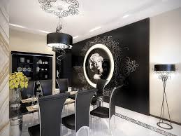 interior retro black and white dining room design wayne home decor