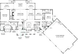 craftsman house plan with 3 bedrooms and 2 5 baths plan 5527