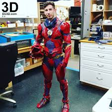3d printable model the flash justice league jl full body armor