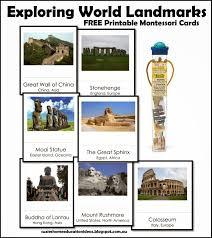 s home education ideas exploring world landmarks free
