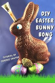 easter chocolate bunny stoner crafts diy chocolate easter bunny bong chronic crafter