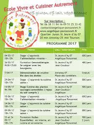 ecole de cuisine 17 le programme 2017 ecole vivre autrement cours de cuisine bio