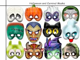 unique halloween printable masksparty birthday booth props