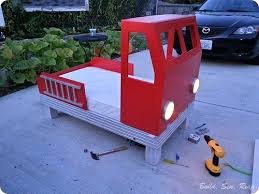 build sew reap fire truck toddler bed