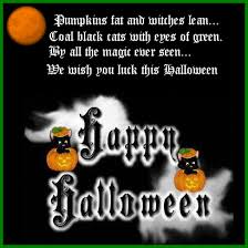 scary halloween status quotes wishes sayings greetings images we wish you luck this halloween happy animated gif pumpkin