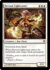 target black friday battlefield devout lightcaster magic card